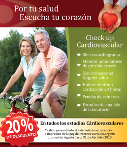 Ppromoción Check up Cardiovascular 20%